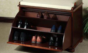 Какую выбрать полку для обуви с сиденьем