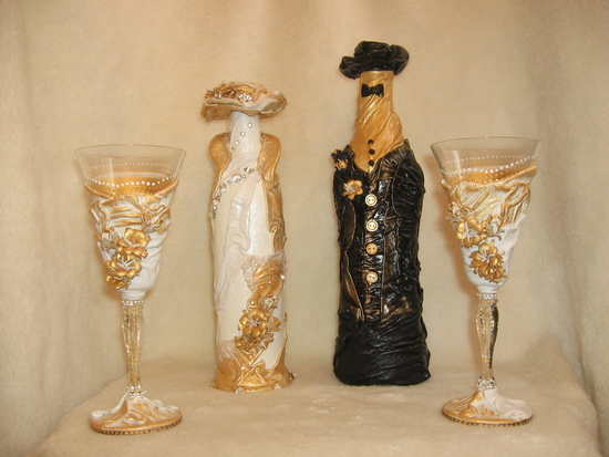 Свадебное шампанское невеста своими руками