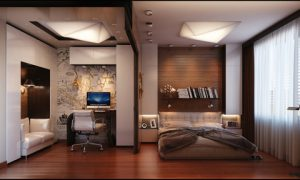Интерьер комнат под дерево в квартире