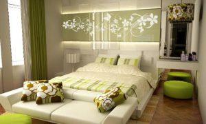 Спальня зеленого цвета – это весело!