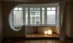 Возможные варианты объединения балкона с комнатой