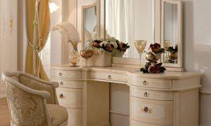 Туалетный столик с зеркалом в интерьере