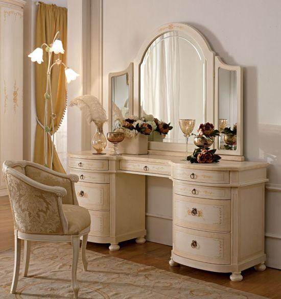 Туалетные столики с зеркалом фото