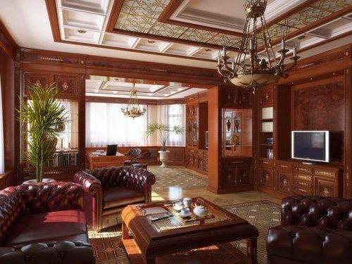 Klassiek Engels Interieur : Engelse stijl in het interieur van een landhuis foto