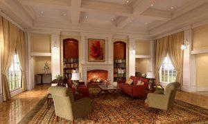 Классический интерьер гостиной 18 кв. м. в квартире
