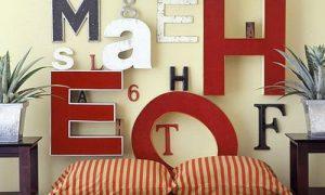 Мастер класс: оформляем интерьер буквами