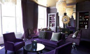Интерьер квартиры в фиолетовом цвете