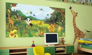 Детская комната в стиле сафари