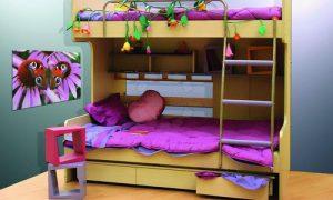 Двухэтажная кровать в интерьере — критерии выбора