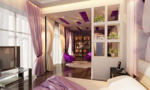Взрослая и детская спальня в одной комнате