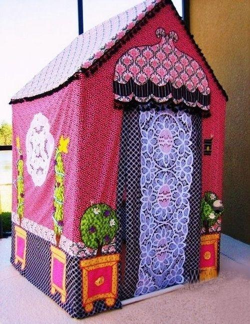 Детские домики своими руками (59 фото варианты игровых) 12