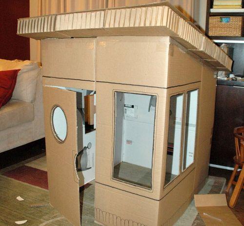 Картонный домик своими руками для ребенка