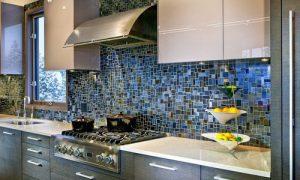 Мозаичная плитка в интерьере кухни