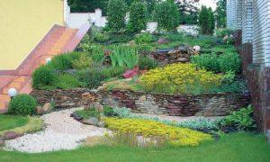 Сухой ручей в ландшафтном дизайне на даче