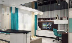 Яркая квартира-студия: фото идеи