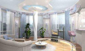 Идеи интерьера гостиной с эркером