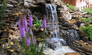 Маленький водопад на даче своими руками: фото идеи