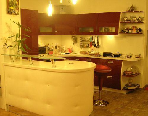 Интерьер кухни 15 кв.м фото с барной стойкой