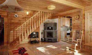 Идеи дизайна внутри дома из оцилиндрованного бревна