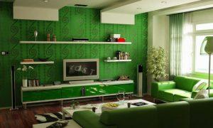 Фото варианты: зеленый цвет в интерьере квартиры