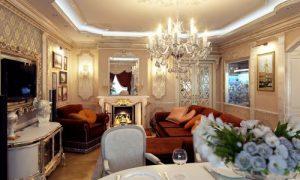 Маленькая гостиная в классическом стиле: фото идеи дизайна