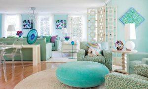 Бирюзовый цвет в интерьере квартиры: фото идеи