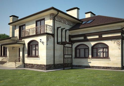 Фото фасадов частных кирпичных домов