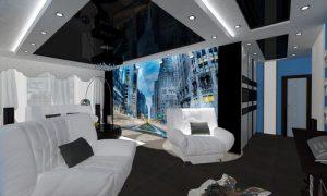 Как обустроить дизайн однокомнатной квартиры 46 кв.м