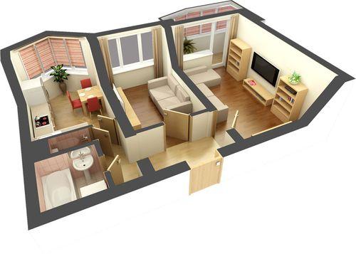 Дизайн хрущевки 2 комнаты смежные