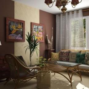 Сочетание коричневого цвета в интерьере кухни, спальни и гостиной