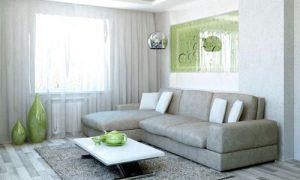 Сочетание серого цвета в интерьере кухни, спальни и гостиной