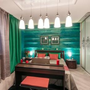 Сочетание зеленого цвета в интерьере кухни, спальни и гостиной