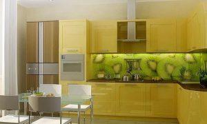 Желтая кухня в интерьере: продумываем детали