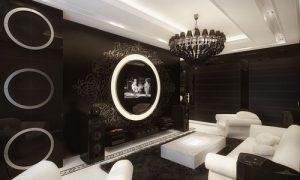 Черно-белый интерьер комнат в квартире