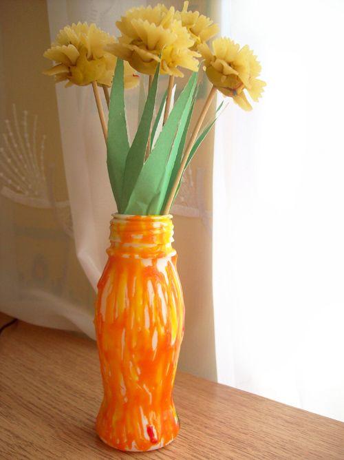 Как сделать для мамы вазы