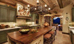 Дизайн интерьера деревянной кухни: фото идеи