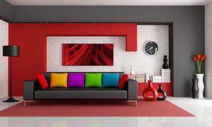 Используем красный цвет в интерьере квартиры