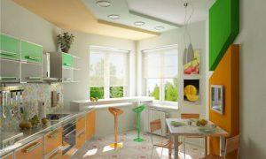 Как оформить окно, если кухня с эркером