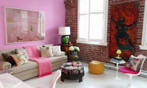 Используем розовый цвет в интерьере