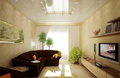 Дизайн зала узкого и длинного