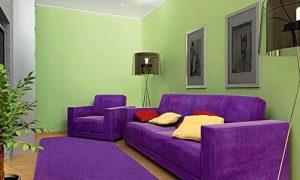 Используем фиолетовый цвет в интерьере