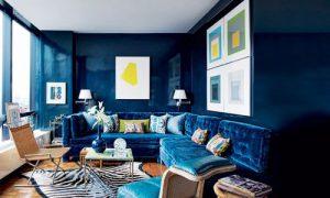 Продумываем интерьер квартиры в синем цвете