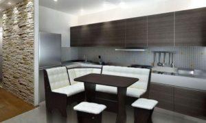 Как обустроить интерьер кухни с диваном