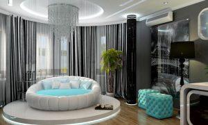 Чем хороша круглая кровать: плюсы и минусы