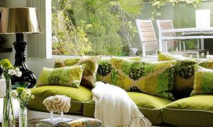 Оливковый цвет в интерьер комнат