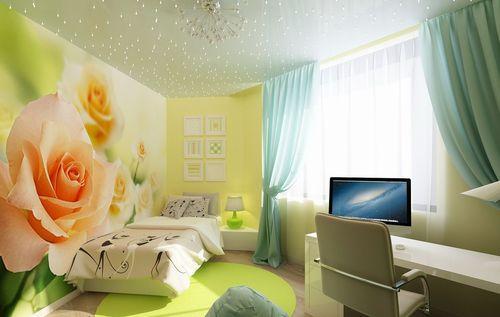 фотообои розы фото в интерьере спальни