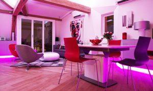 Как использовать лиловый цвет в интерьере