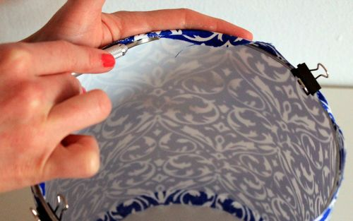 Тканевой абажур своими руками