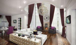 Как оформить интерьер комнаты с двумя окнами