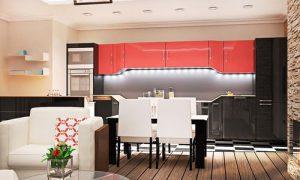 Совмещенная кухня с залом: продумываем интерьер